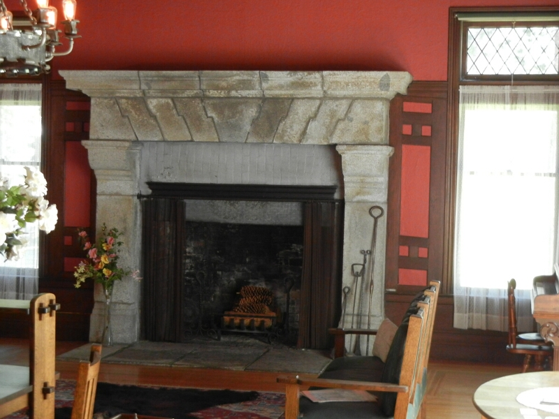 Tahoe Hellman Mansion Fire Place